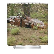 Abandoned Antique Car Shower Curtain