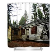 Abandoned Asterisk Logo Poster Shower Curtain