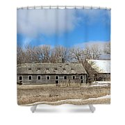 Abandoned Barn And Shed Shower Curtain