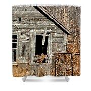 Abandoned Barn Shower Curtain
