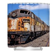 Abandoned Bessemer And Lake Erie Trains Schellville California Shower Curtain
