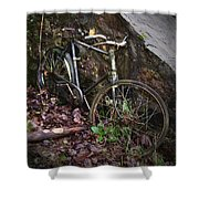 Abandoned Bicycle Shower Curtain