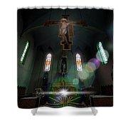 Abandoned Blue Church - Chiesa Blu Abbandonata Shower Curtain by Enrico Pelos