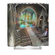 Abandoned Blue Church II - Chiesa Blu Abbandonata II Shower Curtain by Enrico Pelos