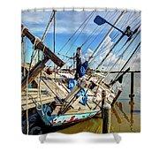 Abandoned Boat - Houston, Tx Shower Curtain