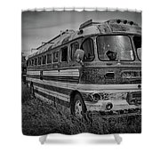 Abandoned Bus Shower Curtain