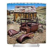 Abandoned Cars, Bodie Ghost Town Shower Curtain