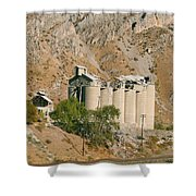 Abandoned Cement Silos Shower Curtain