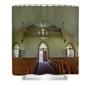 Abandoned Church In Prison Yard Shower Curtain