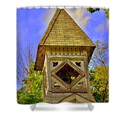Abandoned Church Steeple Shower Curtain