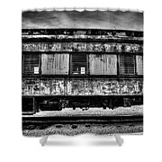 Abandoned Circus Transport Car Shower Curtain