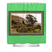 Abandoned Cottage - Scotland H A With Decorative Ornate Printed Frame Shower Curtain