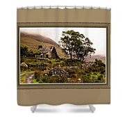 Abandoned Cottage - Scotland H B With Decorative Ornate Printed Frame Shower Curtain