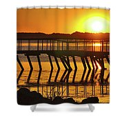 Abandoned Dock Shower Curtain