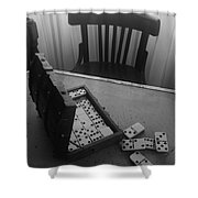 Abandoned Domino Set Shower Curtain