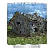 Abandoned Farm Building Shower Curtain