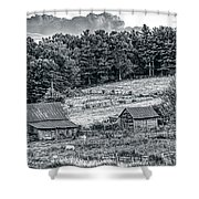 Abandoned Farm Buildings Shower Curtain
