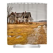 Abandoned Farm House Shower Curtain by Cale Best