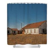 abandoned farm house dance hall #VanishingTexas Shower Curtain