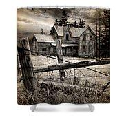 Abandoned Farm House Shower Curtain