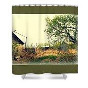 Abandoned Farm Yard Shower Curtain