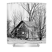 Abandoned Farmhouse In The Michigan Countryside Shower Curtain