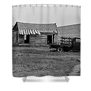 Abandoned Ford Truck And Shed Shower Curtain
