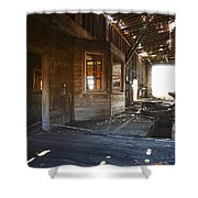 Abandoned Grain Elevator Drive Through Shower Curtain