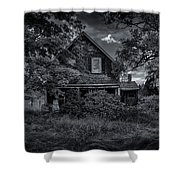 Abandoned Home In Lubec Maine Bw Version Shower Curtain