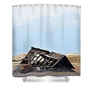 Abandoned In A Sea Of Mining Tailings Shower Curtain