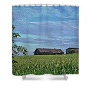 Abandoned In Grass Shower Curtain
