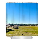 Abandoned In Meadow Shower Curtain