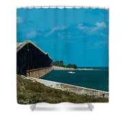 Abandoned Keys Bridge Shower Curtain