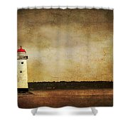 Abandoned Lighthouse Shower Curtain by Meirion Matthias