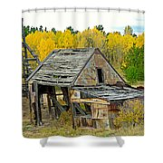 Abandoned Mine In Autumn Shower Curtain