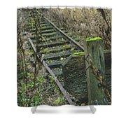 Abandoned Miniature Railway Shower Curtain
