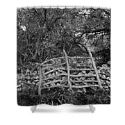 Abandoned Minorcan Country Gate Shower Curtain