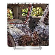 Abandoned Old Truck Newport New Hampshire Shower Curtain