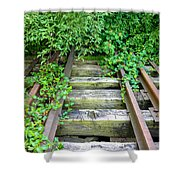 Abandoned Rail Road Tracks  Shower Curtain