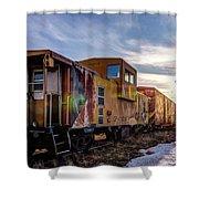 Abandoned Railcar Shower Curtain