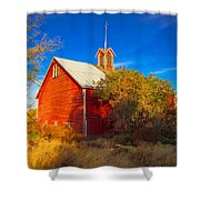 Abandoned Red Barn Shower Curtain