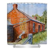 Abandoned Red Brick Cottage Near Maldon Shower Curtain