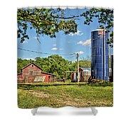 Abandoned Spring Farm Shower Curtain