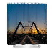 Abandoned Steel Bridge Shower Curtain
