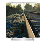Abandoned Tracks Shower Curtain