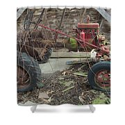 Abandoned Tractor Shower Curtain