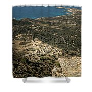 Abandoned Village Of Occi And The Coast Of Corsica Shower Curtain
