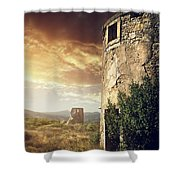 Abandoned Windmills Shower Curtain