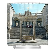 Abbey Of Montecassino Courtyard Shower Curtain