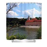 Abbey Weltenburg And Danube River Shower Curtain